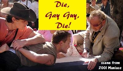 die gay guy die banner