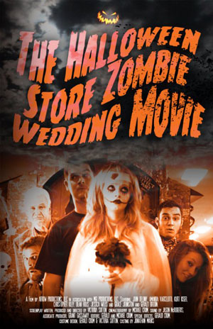 halloween store zombie wedding movie cover