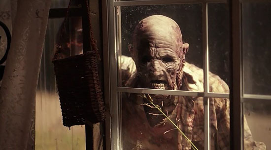dead damned darkness zombie face in window
