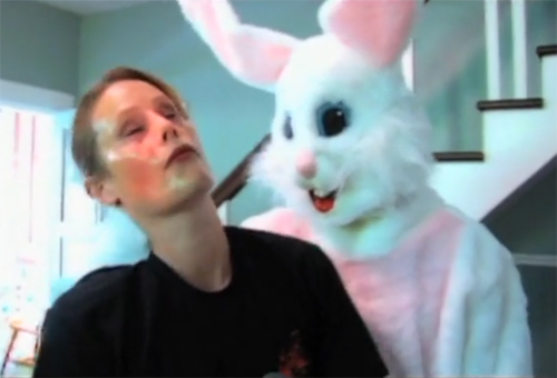 easter bunny bloodbath hot water