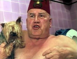 blob beware dog man
