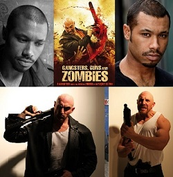 gangster guns and zombies collage