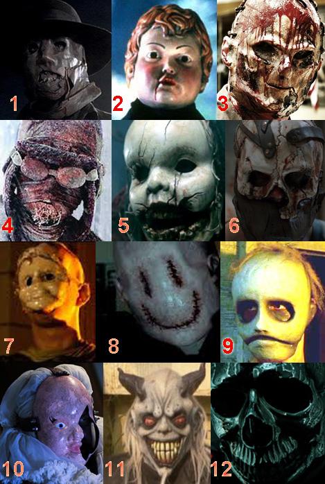modern slasher masks numbered