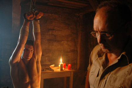 timber falls guy strapped