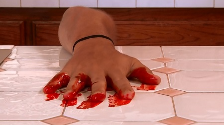 3 wicked witches bloody hand