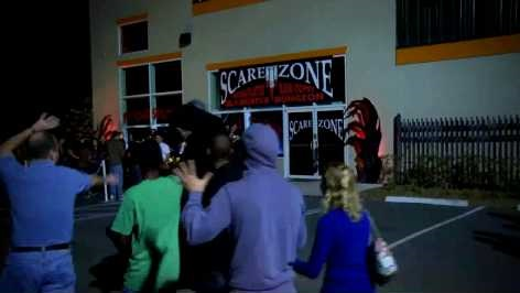 scare zone outside